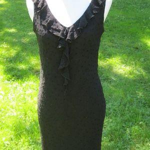 Size 6 Jonathan Martin black silk lace dress